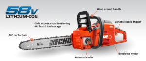 Echo CCS-58V chainsaw